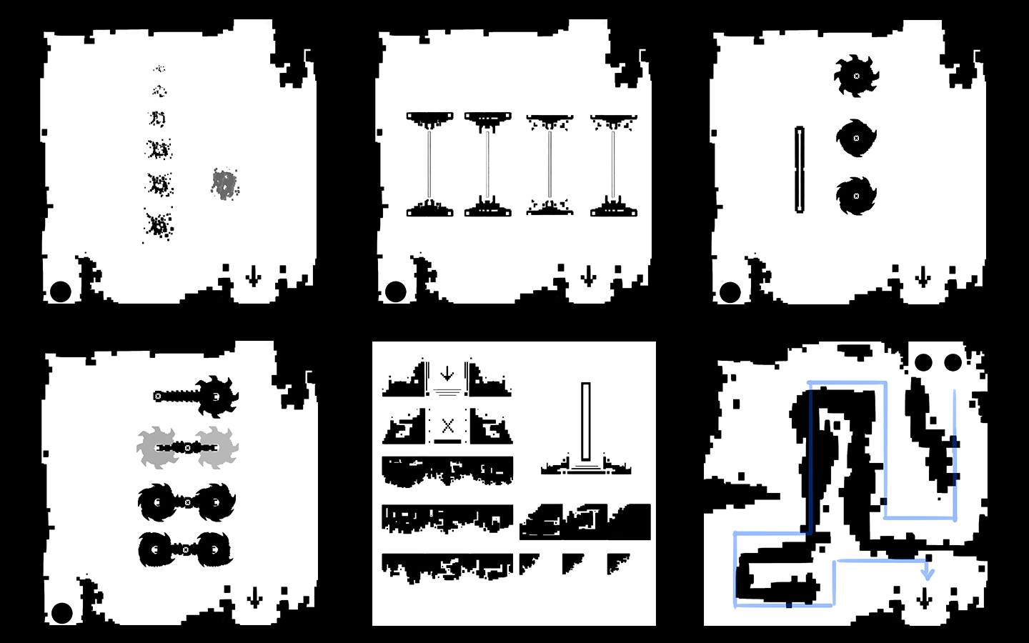 Early environment designs for Bichromia