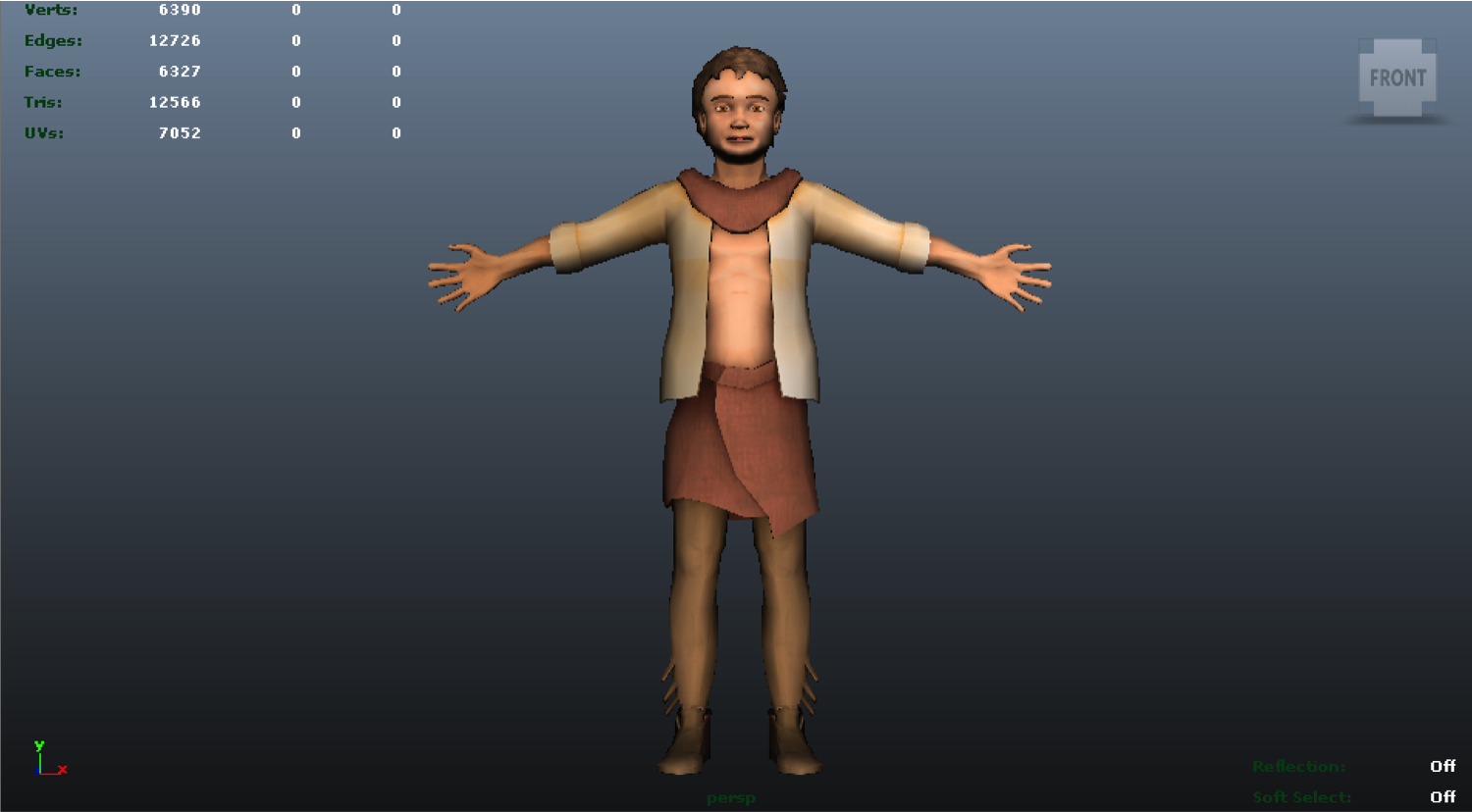 Boy character result