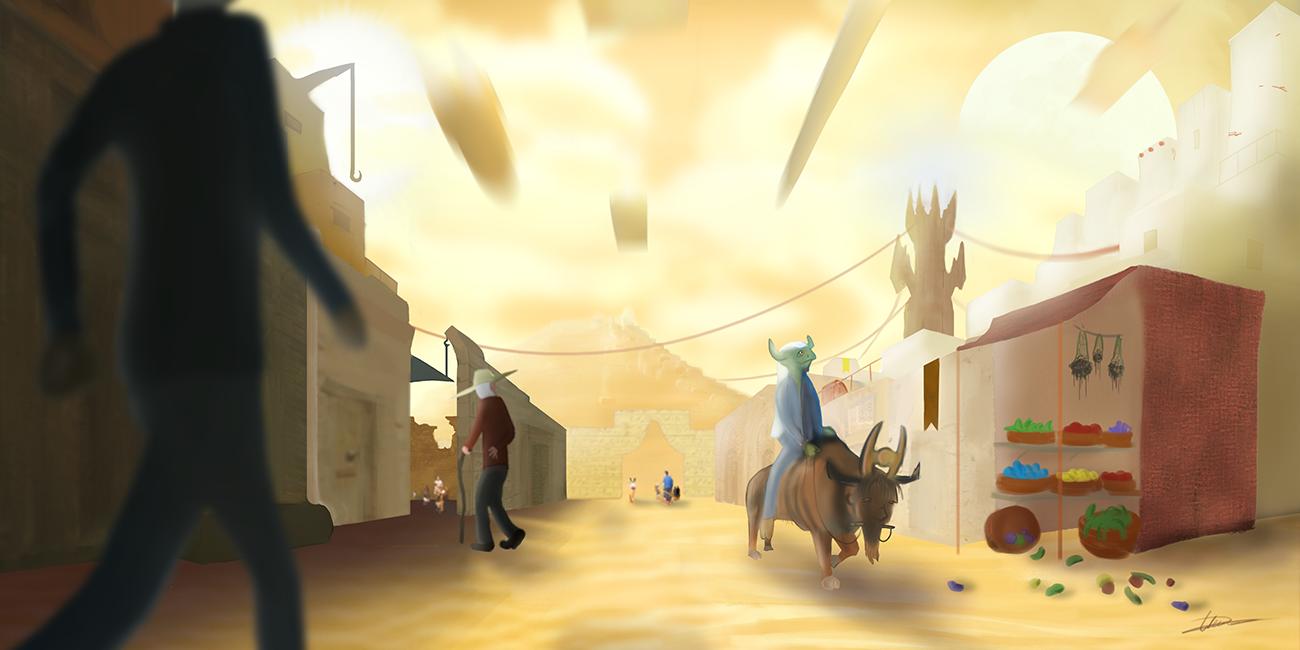 Desert City street