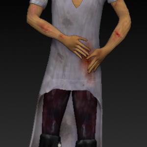 Sad man character