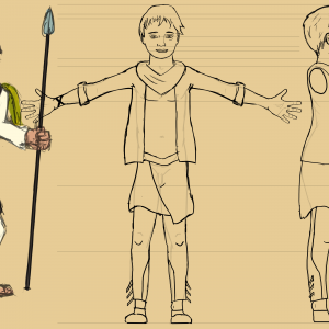 Character sheet of the boy