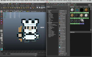Color pixel art in Maya